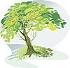 großer grüner Baum