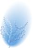 Blühende blau busch