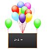 Luftballons mit Schultafel