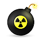 Bombe mit dem Radiationzeichen