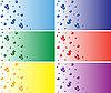 有气泡的彩色名片 | 向量插图