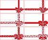 rote Schleifen und Bänder für Geschenke
