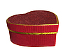 Красная подарочная коробка в форме сердца | Фото