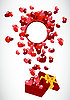Geschenk und Herzen | Stock Vektrografik