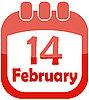 Kalender-Icon für Valentinstag | Stock Vektrografik