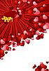 Grußkarte mit roten Herzen | Stock Vektrografik