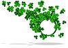 runder Rahmen zu St. Patrick;s Day mit Dreiblatt