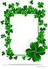 Rahmen zu St. Patrick`s Day mit Dreiblättern | Stock Vektrografik