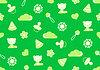 Nahtlose Muster von grüner Farbe mit Thema Kindheit | Stock Illustration