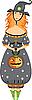Halloween dziewczyna czarownica | Stock Vector Graphics