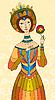 Mädchen Prinzessin mit einer Blume