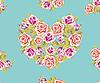 Nahtloser Hintergrund von Herzen aus Rosen | Stock Illustration