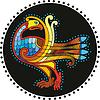 Kreis mit buntem keltischen Vogel