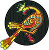 ID 3280392 | Kreis mit buntem keltischen Vogel | Stock Vektorgrafik | CLIPARTO