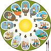 Clock Kaninchen Schulkind