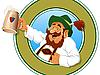 ID 3053122 | Mann mit vollem Krug Bier | Stock Vektorgrafik | CLIPARTO