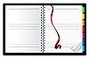 리본 책갈피 노트북 | Stock Vector Graphics