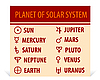 astrologische Symbole - Zeichen von Planeten