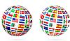 Flagge Globuskugel