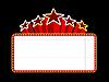 빈 영화, 극장 또는 카지노 윤곽 | Stock Vector Graphics
