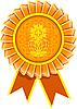 Illustration von Rosette Auszeichnung