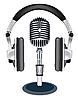 Векторный клипарт: наушники с микрофоном