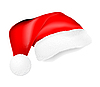 Красная шапка Деда Мороза | Векторный клипарт