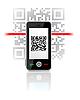 Telefon scaned QR-Code