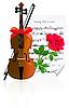 Violine mit Rose