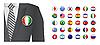 Diplomat mit Abzeichen Flagge Hintergrund
