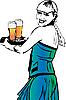 Kellnerin mit Bier