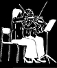 Две девушки играют на скрипках | Иллюстрация