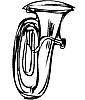 Векторный клипарт: медных труб музыкальный инструмент