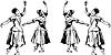 Mädchen Ballerina, die `s in Pose