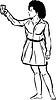 Mädchen barfuß mit Glas in der Hand