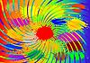 abstrakter Hintergrund mit Farbblots