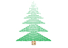 Зеленое новогоднее дерево | Иллюстрация