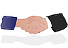 Hand shake of partners | Stock Illustration