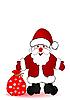 ID 3054810 | Weihnachtsmann mit einem Sack voll Geschenke | Illustration mit hoher Auflösung | CLIPARTO