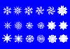 Различные белый новогодние снежинки | Иллюстрация