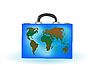 ID 3054819 | Walizka z mapy świata | Stockowa ilustracja wysokiej rozdzielczości | KLIPARTO