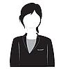 Silhouette eines Mädchens im Anzug