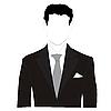 Silhouette eines Mannes im Anzug