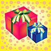 Zwei Boxen mit Geschenken