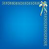 Niebieskie tło z wzorem i łuk | Stock Vector Graphics