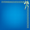 ID 3064072 | 蓝色背景与模式和弓 | 向量插图 | CLIPARTO