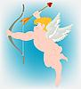 Engel mit Flügeln und Pfeil