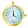 Złoty zegarek z mapy świata | Stock Vector Graphics