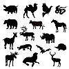 Silhouetten von Tieren