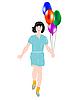 ID 3106172 | Mädchen mit Luftballons | Stock Vektorgrafik | CLIPARTO